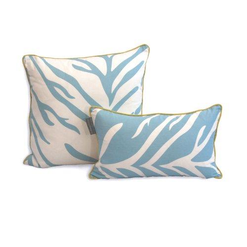 EZ Living Home H101D12TQ Zebra Decorative Pillow, Turquoise, 20x12, 20