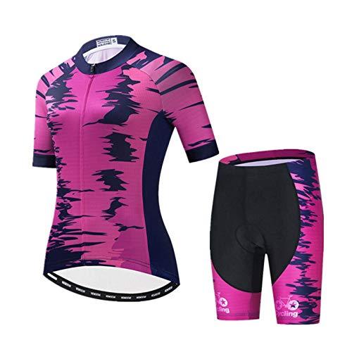 WPW Conjunto de Maillot de Ciclismo para Mujer, Equipo de Ciclismo de...