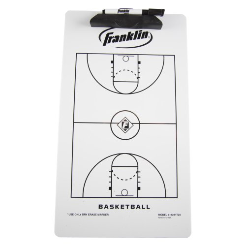 Franklin Sports Basketball Coach Clip Board, 15.75x9-Inch