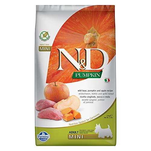 Farmina N&D Getreidefrei Adult Mini Kürbis, Wildschwein & Apfel für Erwachsene Hunde Kleiner Rassen - Komplettfuttermittel, Kilogramm:2.5 kg