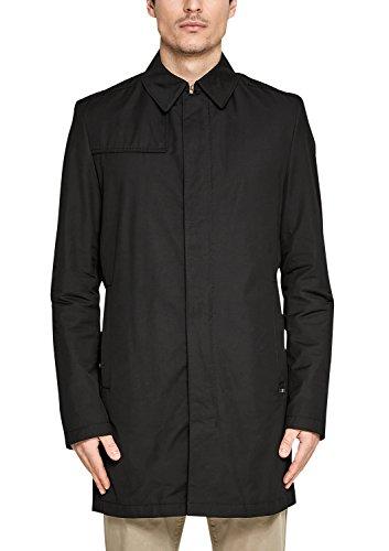 s.Oliver BLACK LABEL Herren 12.802.52.4975 Mantel, Schwarz (Grey/Black 9999), Large (Herstellergröße: 52)
