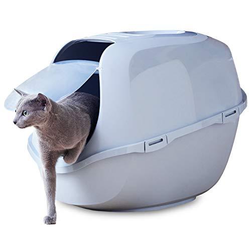 【OFT】 メガスマート 本体 グレー 大きい猫 大きいサイズ ゆったり広々サイズ フルカバー サイズ(約) 幅46×奥65×高49cm