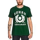 Camiseta con diseño del Señor de los anillos Elbenwald Rohan Riddermark y símbolo de caballo, color verde verde L