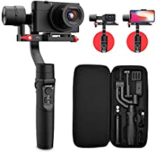 Hohem All in 1 3-Axis Gimbal Stabilizer for Digital Cameras/Action Camera/Smartphone w/ 600° Inception Mode, 0.9lbs Payload for iPhone Xs Max/Gopro Hero 7/Sony Compact Camera RX100 - iSteady Multi