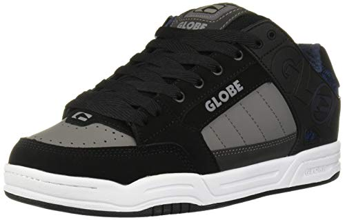 Globe Men's Tilt Skate Shoe, Black/Blue Knit, 6.5 Medium US