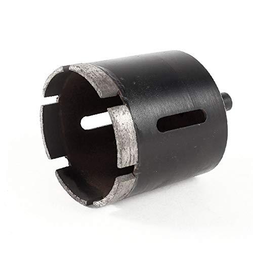 X-DREE Taladro de sierra de agujero de granito de mármol de 60 mm de diámetro negro para ladrillo de pizarra(Black 60mm Dia Marble granit-e Hole Saw Drill Tool for Slate Brick