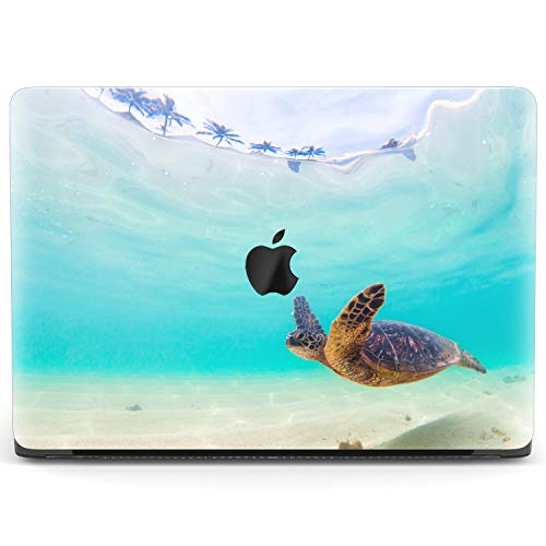 Mertak Hard Case Compatible with MacBook Pro 16 Air 13 inch Mac 15 Retina 12 11 2020 2019 2018 2017 Blue Protective Underwater Clear Cute Touch Bar Shell Swimming Laptop Ocean Girl Women Turtle Sea