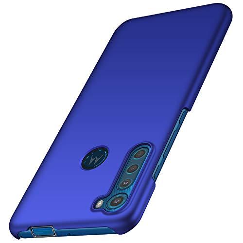 anccer Kompatibel mit Moto One Fusion Plus Hülle [Serie Matte] Elastische Schockabsorption & Ultra dünnes Handyhülle Design für Moto One Fusion Plus (Blau)