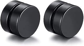 JER Acero Fino Stud Pendiente del oído de la falsificación magnética Enchufes Pendiente del túnel de