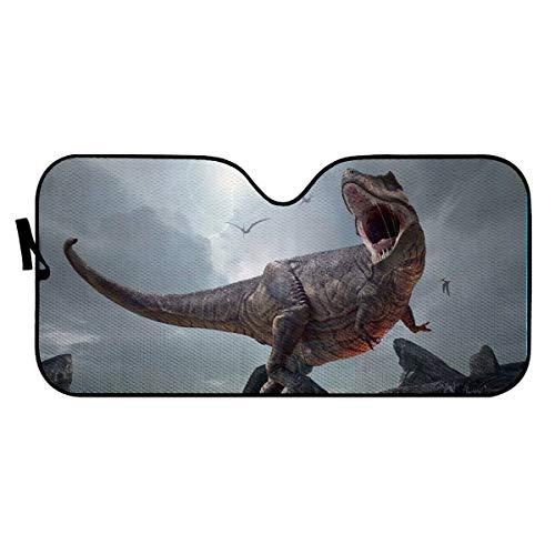 Parasol para parabrisas de coche, diseño de dinosaurios, para proteger el interior del vehículo y mantiene fuera de los rayos UV, universal