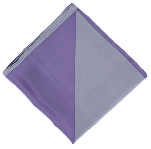 Gris / Lilas bicolore en soie Handkercheif de Michelsons of London