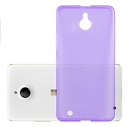 Preisvergleich Produktbild Cadorabo Hülle für Nokia Lumia 850 - Hülle in TRANSPARENT LILA Handyhülle aus TPU Silikon im Ultra Slim 'AIR' Design - Silikonhülle Schutzhülle Soft Back Cover Case Bumper