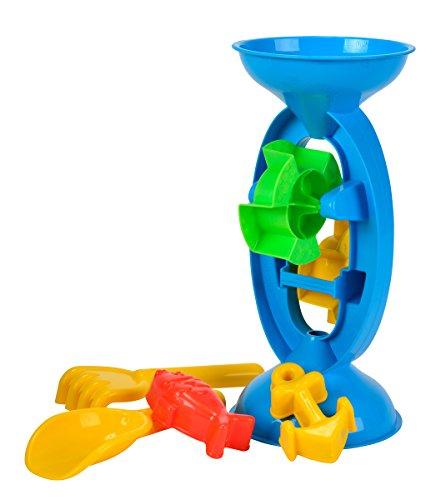 Simba 1232-1 107113020 - Sand- und Wassermühle, es wird nur ein Artikel geliefert, 5 Teile, Höhe 28cm,Sandkasten, Sandspielzeug