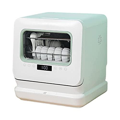ELXSZJ XTZJ Encimera Lavavajillas, lavavajillas portátil con función de Aire-seco, 5 programas de Lavado + Lavado de Frutas y Vegetales, Brazos de pulverización Espiral Dual de 360 °