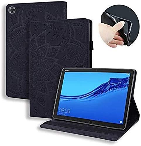ZRH Accesorios De Pestañas para Huawei MediApad M5 Lite 8 JDN2-W09 JDN2-AL00, PU Cuero En Relieve con Estampado De Flores En Relieve para Huawei Honor 5 Caso 8' (Color : 4)