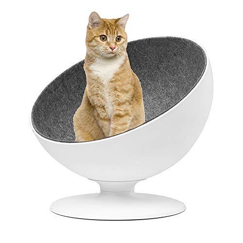 Verano 猫 ベッド ボールチェア 猫ハウス ペットソファー ペットベッド クッション マット ホワイト