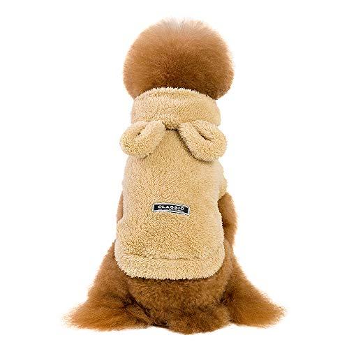 Amphia - Haustier Winter Mantel,Kleidung für Haustiere - Haustier-Katzen-Welpen-warme Winter-Baumwollkleidung Mode-Karikatur-Bär Zwei-Legged Kleidung(Khaki,S)