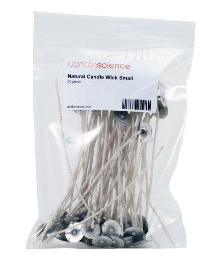 CandleScience Natural Candle Wick, Small, 50 Piece