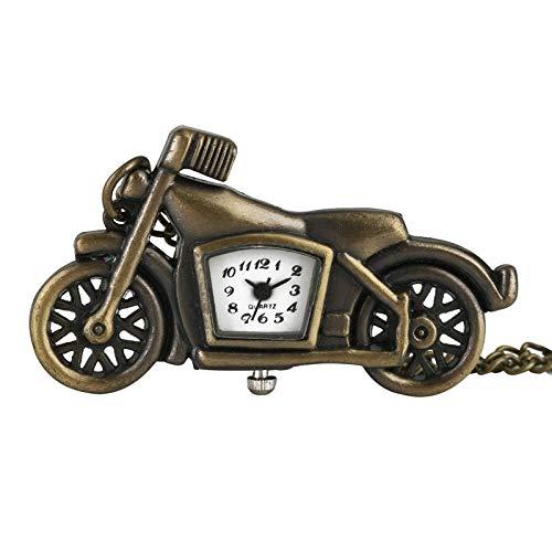 LLXXYY halsketting, zakhorloge, vintage, heren, dames, kerstcadeau, uniseks, bijzondere motorfiets, pocket, horloges voor heren, brons, dunne ketting, halsketting, horloge voor jongeren, racing liefhebbers
