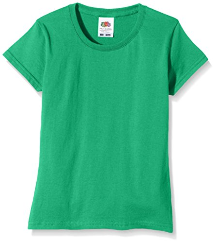 Fruit of the Loom Fruit of the Loom Mädchen Sofspun T-Shirt, Kelly Green, 14-15 Jahre