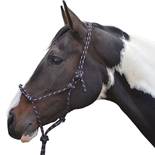 Y-H Hy Rope Halter Black Cob/Full