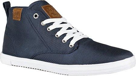 Vlado Leon Men Round Toe Canvas Sneakers