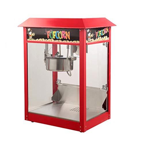 middle Retro-Popcorn-Maschine - 60 Liter/Stunde, 200 Gramm / 10 Minuten, Edelstahltopf, Salziges Popcorn-50er-Jahre-Aussehen, Professionelle Popcorn-Maschine, Verkaufsautomat