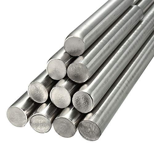 ZHFENG 3mm Durchmesser 125-500mm Länge Edelstahlrohr ringsum fester Metallstab-Rod Bearbeitungswerkzeug Werkzeugmaschinenzubehör (Color : 330mm Type Type 1)