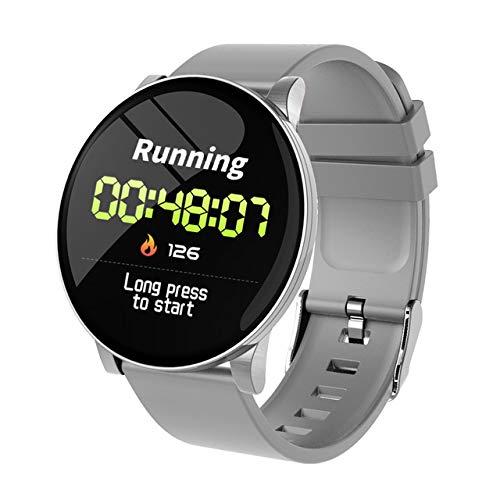 RONSHIN W8 Smart Horloge Dames Weersverwachting Fitness Sport Tracker Hartslagmeter Smartwatch Android Vrouwen Mannen Horloges Smart Armband Elektronische Accessoires, as shown, ZILVER
