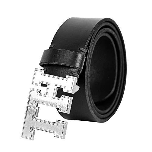 Tommy Hilfiger - Cintura da uomo in pelle conciata all'olio, 1,5 cm Nero 42
