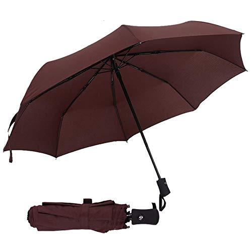Parasol Parapluie Parapluie Entièrement Automatique Pluie Femmes Hommes 3 Pliant Léger Et Durable 386G 8K Parapluies Forts Pluie Café Ensoleillé