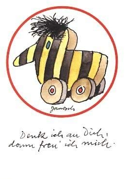 Sticker-Postkarte Janosch Tigerente