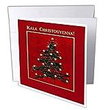 Kala Christouyenna, Merry Christmas in Greek - Greeting Card, 6 x 6 inches, single (gc_37022_5)