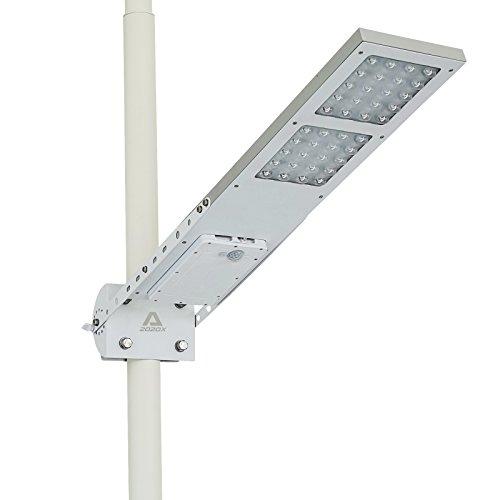 ALPHA 2020X Lampada stradale solare, 3 Impostazioni, Adatta a Pali di Diametro Max. 3