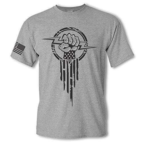 Product Image 2: Electrician Superhero Electrical Worker Lightning Bolt Fist Short Sleeve T-Shirt