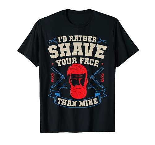 Coiffeur Professionnel Barbe Cheveux Barbier T-Shirt