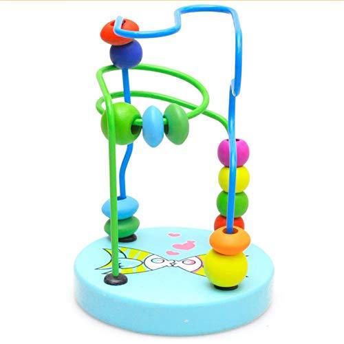 Dosige Motorikschleife mit verschiedenen Schleifen Tierkreis Roller Coaster um Korn Maze Spielzeug Motorikschleife Baby Spielzeug Perlen Labyrinth Motorikwürfel Lernspielzeug Abakus