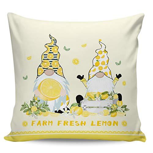 Winter Rangers Fundas de almohada decorativas: Summer Farm Fresh Lemon Linda divertida diadema de limón enano corto de felpa para sofá cama, silla, ultra suave y transpirable, 26 x 26 pulgadas