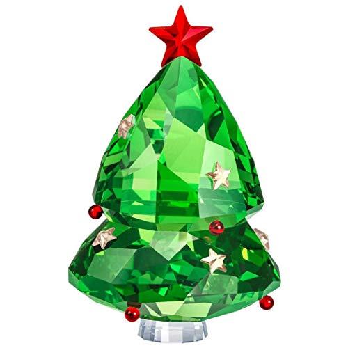 Swarovski - Albero di Natale con Cristalli, 6,5 cm, Colore: Verde