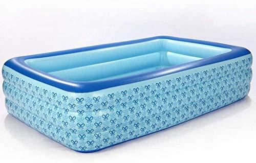 Kinderzwembad Rechthoekig Opblaasbaar Familiezwembad Verdikt Opblaasbaar Voor Kinderen Volwassenen Voor Tuin, Achtertuin, Buiten-255 * 165 * 60cm Blauw