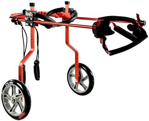 EET Rollstuhl Einstellbare 2-Rad-Aluminiumlegierung Rollstuhl Hind Leg Reha-Training, Geeignet für Behinderte und Gebrechliche Haustiere,l