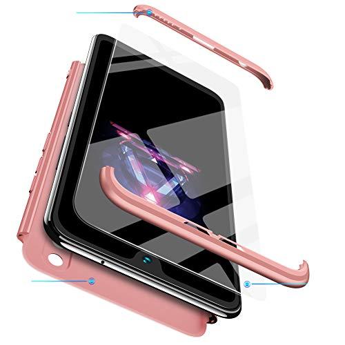 xinyunew Funda Huawei P8 Lite 2017,360 Grados Protección Case + Pantalla de Cristal Templado,3 in 1 Anti-Arañazos Carcasa Case Caso Fundas teléfonos Móviles para Huawei P8 Lite 2017 Rose Oro