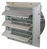 J&D Manufacturing VES10C ES Aluminum Shutter Fan, 10' Size, 115V, 1/8 hp, 3 Speed, 9' Cord,Chrome
