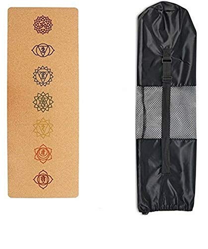Natural Cork Yoga Mat Relaxing in Wild Gym Training Mat 5mm Thickness 3 Different Patterns...