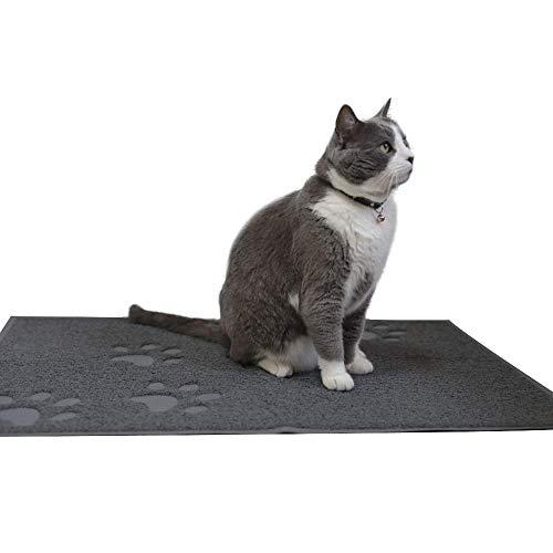 "ANDALUS Cat Litter Mat, Gray, Small (15.75"" x 11.75"")"