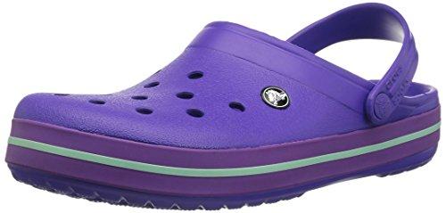 Crocs unisex-adult Crocband Clog | Comfortable Slip On Casual Water Shoe Ultraviolet/Amethyst 9 US Men / 11 US Women