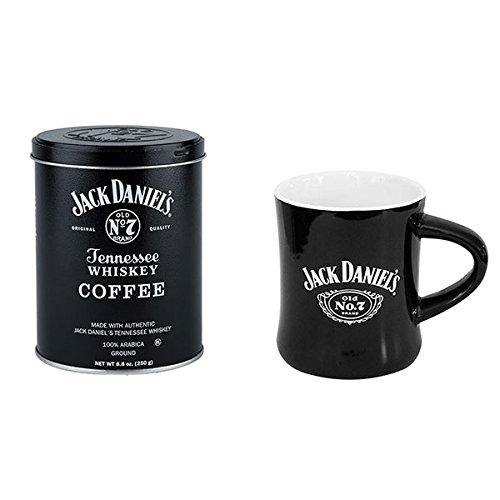Jack Daniels Kaffee- und Tassen-Set (schwarz/weiß, 250 ml)