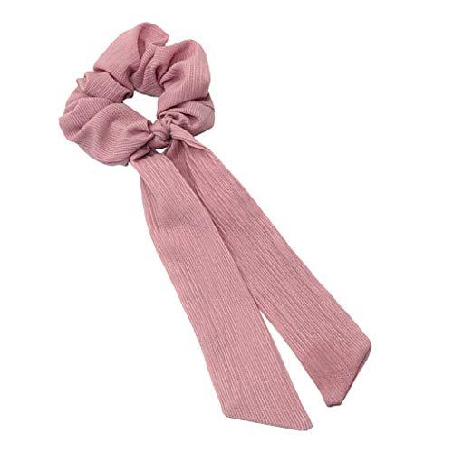 chiwanji Schleife Haargummis Gummibänder Haarbänder Elastische Pferdeschwanz Halter Haarschmuck für Damen Mädchen Täglichen Gebrauch - Rosa