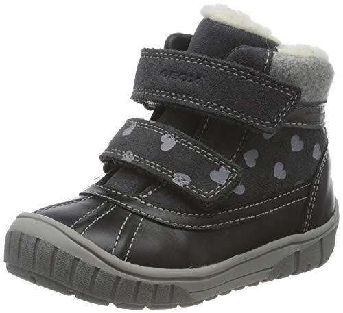 Geox Baby-Mädchen B OMAR Girl WPF A Ankle Boot, Grey (Dk Grey), 25 EU