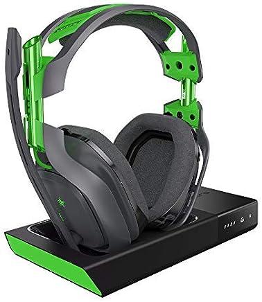 Astro Gaming A50 - Auriculares (con Micrófono Inalámbricos y Estación Base con Sonido Envolvente Dolby 7.1, Compatibles con Xbox One, Pc, Mac) Gris/Verde